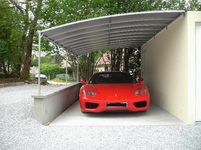 Crealu design pergolas et abris cr ations sur mesure - Abri voiture en toile ...