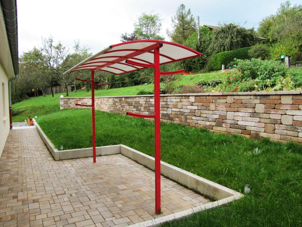 Crealu design pergolas et abris cr ations sur mesure - Etendoir a linge exterieur en beton ...